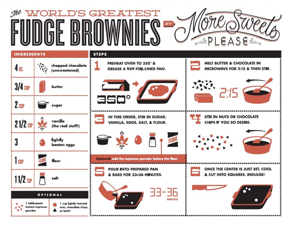 Kitchen Towel with World's Greatest Fudge Brownie Recipe