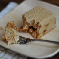 Blondies with Caramel Icing