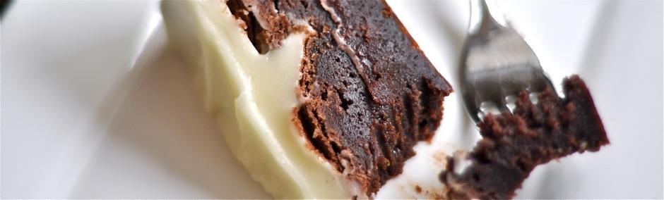 Fudgy Orange Brownie Cake with Orange Cream Cheese Icing