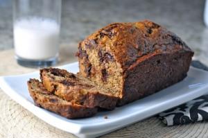 Impossibly Healthy Banana Bread with Dark Chocolate Chunks