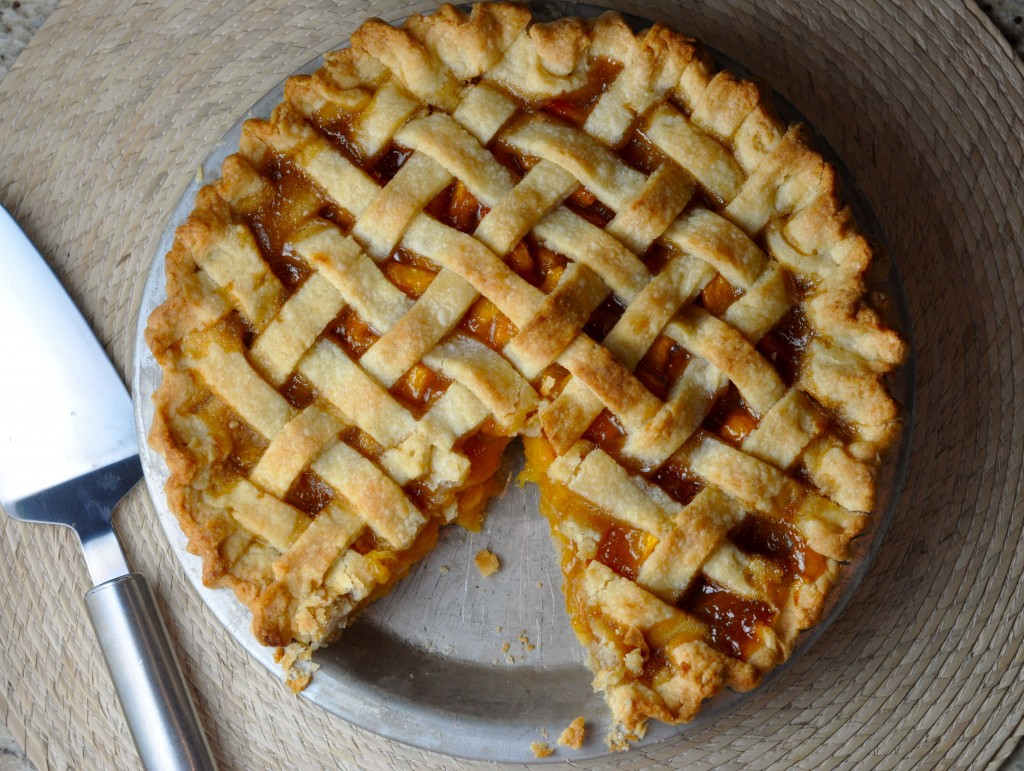Proper Peach Pie With Flaky Lattice Crust | More Sweets Please