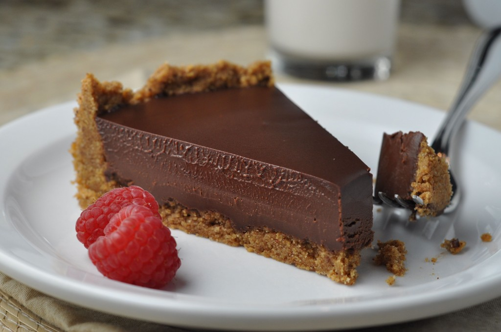 Chocolate Ganache Tart With Pecan Crust | More Sweets Please