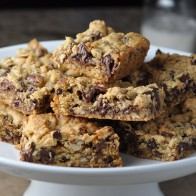 Chocolate Pecan Cookie Bars