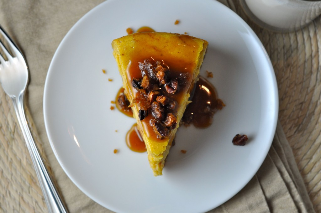 Pumpkin Praline Cheesecake with Bourbon-Caramel Sauce | More Sweets ...