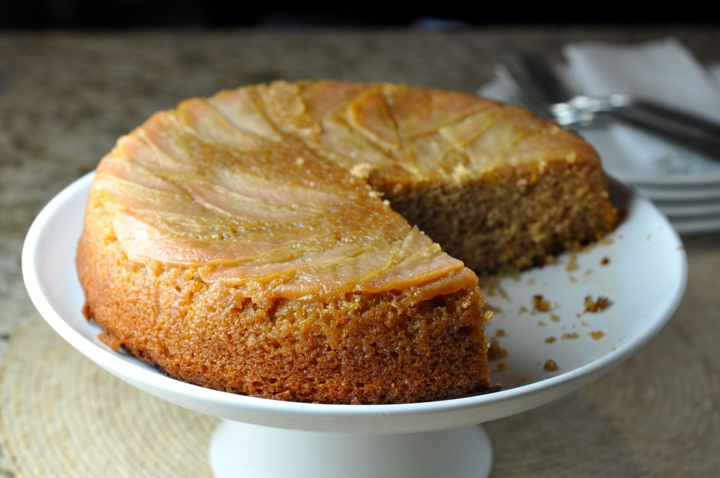 Honey Pear Upside Down Cake   More Sweets Please