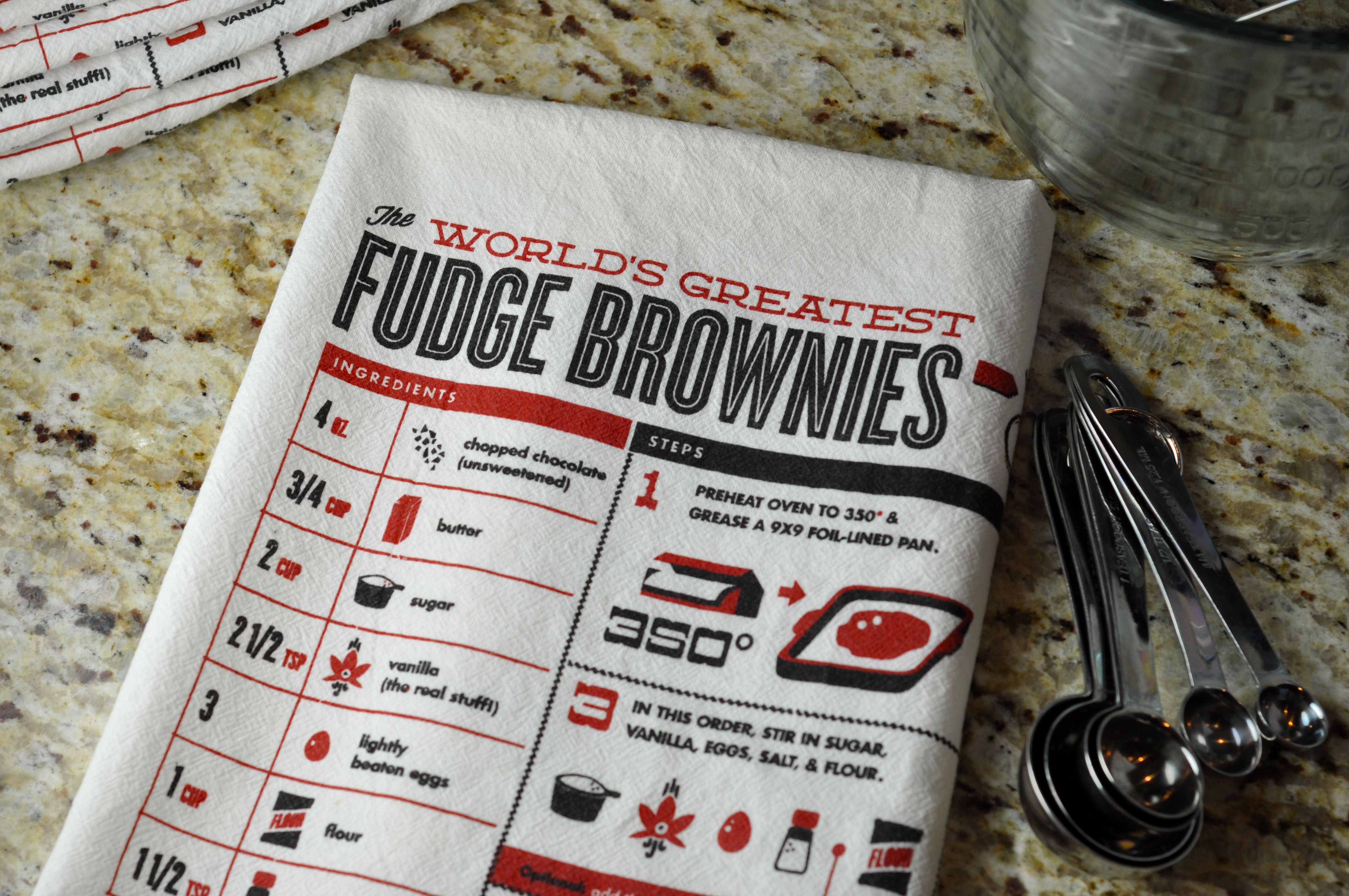 More Sweets Please Brownie Recipe Kitchen Towel