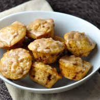 Oat-Branana Muffins with Cinnamon Glaze