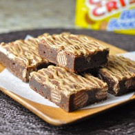 Coffee Crisp Fudge Brownies