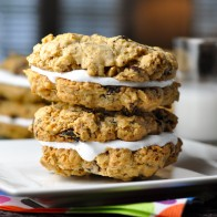 Chocolate Oatmeal Marshmallow Sandwich Cookies
