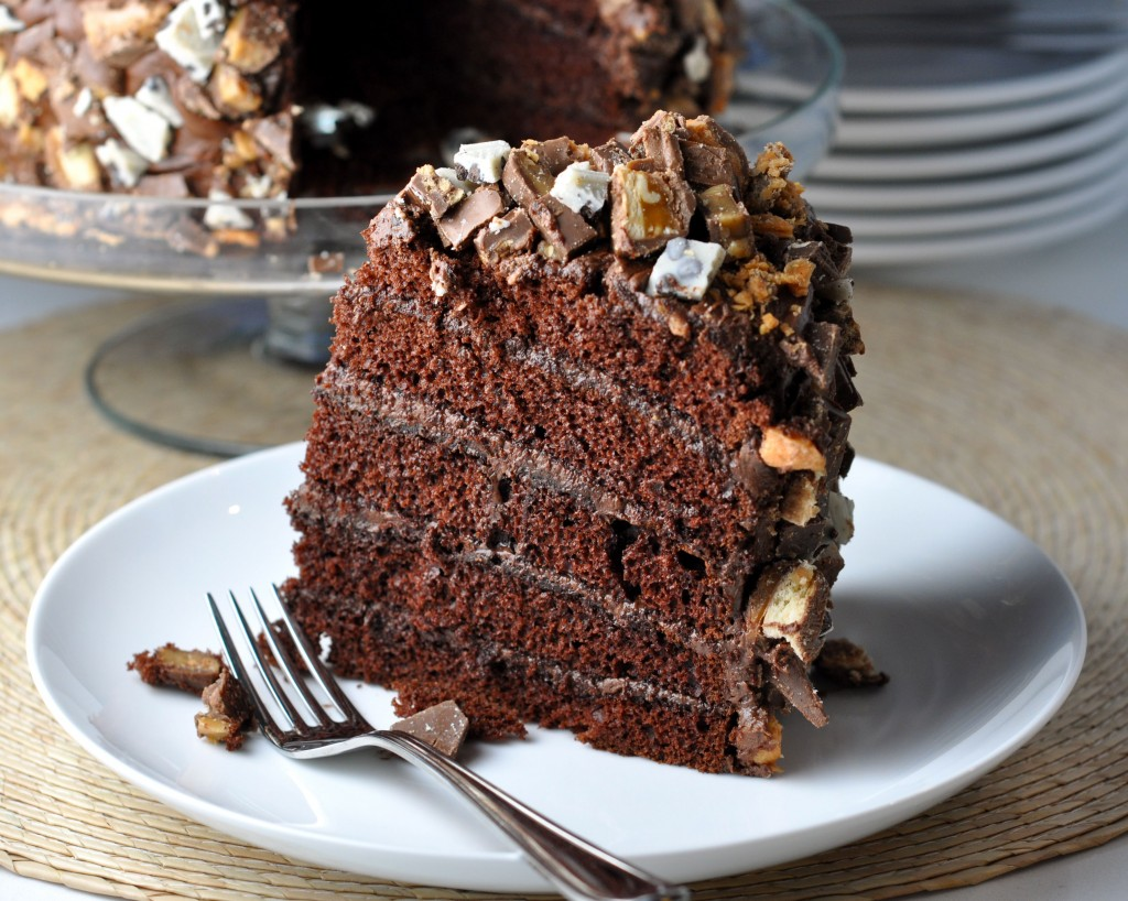 Chocolate Orgy of Excess Cake Slice