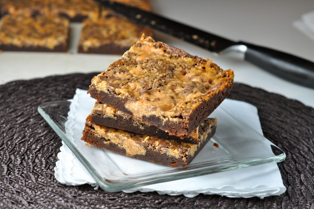 Butterfinger Fudge Brownies | More Sweets Please