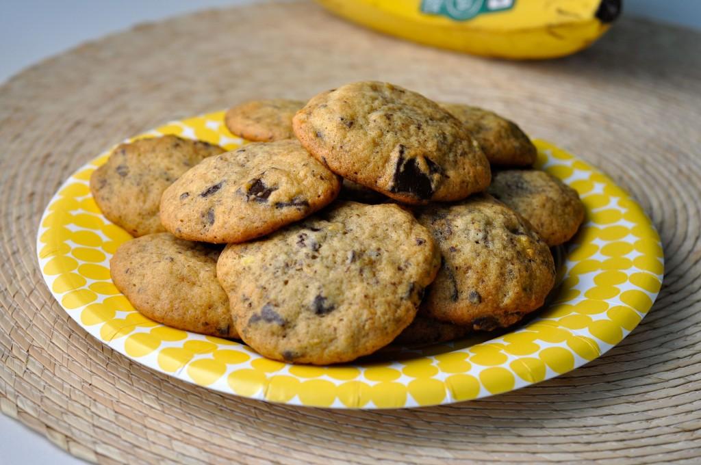 Banana Dark Chocolate Cookies