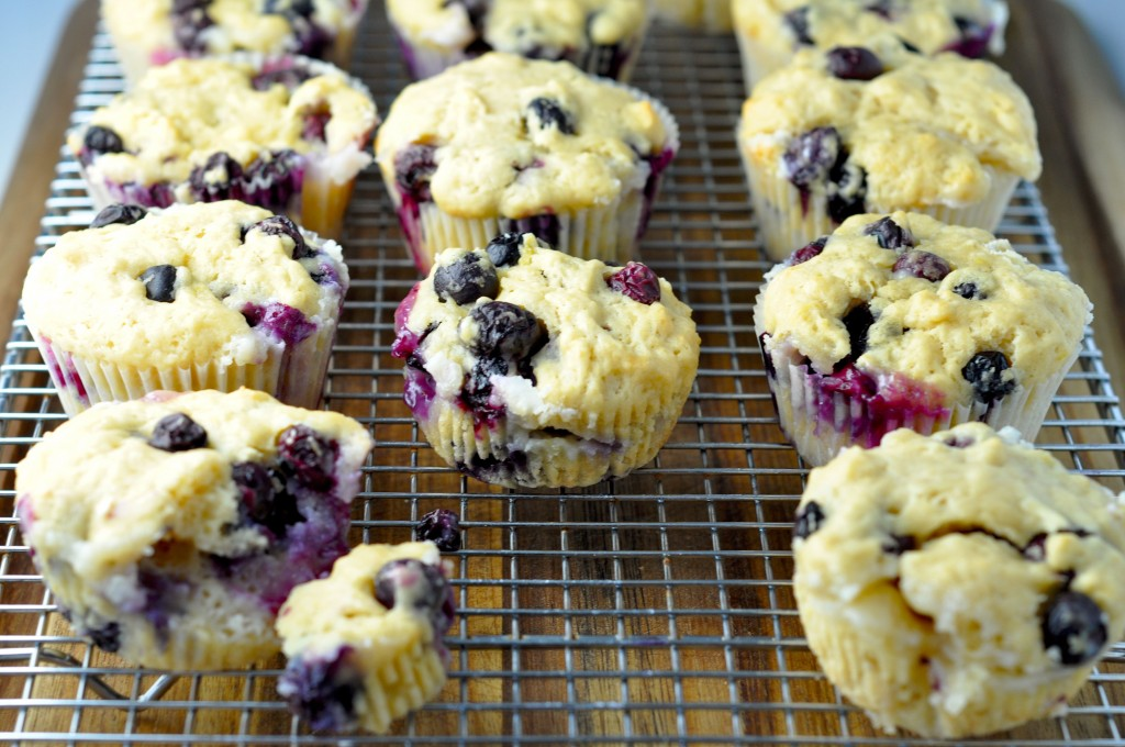 Cream Cheese Stuffed Blueberry Muffins | More Sweets Please