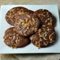 Coconut Fudge Brownie Cookies