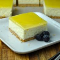 Lemon Cheesecake Bars with Lemon Glaze