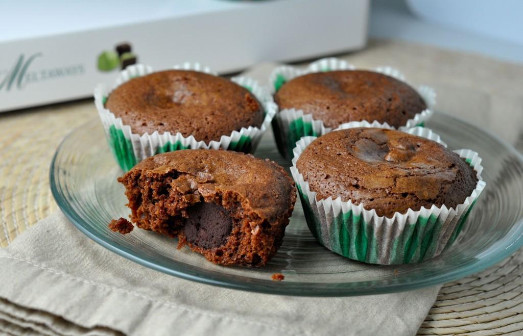 Mint Chocolate Fudge Brownie Bites | More Sweets Please