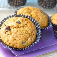 Monster Banana Chip Muffins