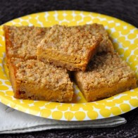 Pumpkin Blondie Crumble Bars