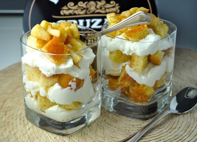 Apple Cinnamon Rum Cake Trifle | More Sweets Please