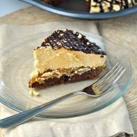 Chocolate PB Caramel Brownie Pie