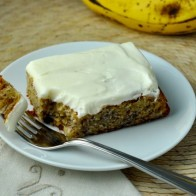 Banana Chocolate CHip Bars with Cream Cheese Frosting