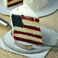 July 4th Flag Cake