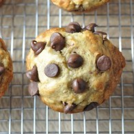 Banana Chocolate Chip Healthy Muffins