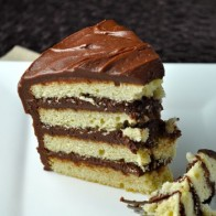 Classic Vanilla Cake with Chocolate Frosting