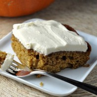 Pumpkin Maple Cake with Cream Cheese Frosting