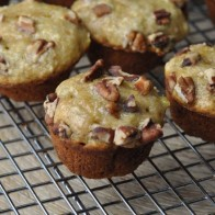 Rum Spice Banana Muffins with Pecans