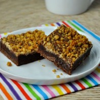 Cake Crumb Fudge Brownies