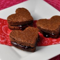Raspberry Fudge Brownie Sandwiches