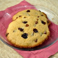 Giant Chocolate Chip and Cherry Cookies