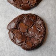 Flourless Double Chocolate Cookies