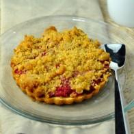 Raspberry Lemon Crumble Tart