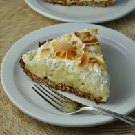 Coconut Cream Pie with Oatmeal Coconut Crust